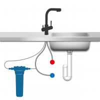 Grifo 3 vias filtro de carbon nosslin
